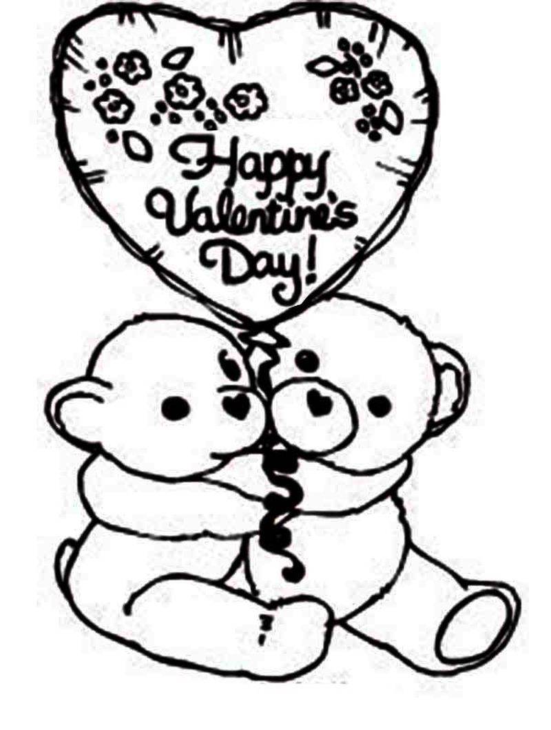 valentines PRINTABLE coloring pages Printable