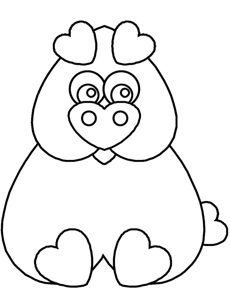 valentines coloring book pages