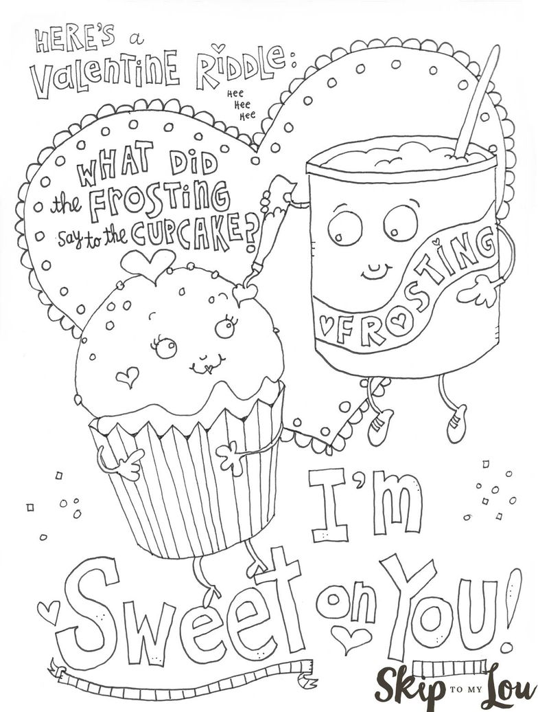 valentines coloring pages PRINTABLE free Printable
