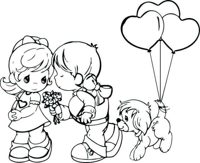 valentines coloring pages for kids Printable