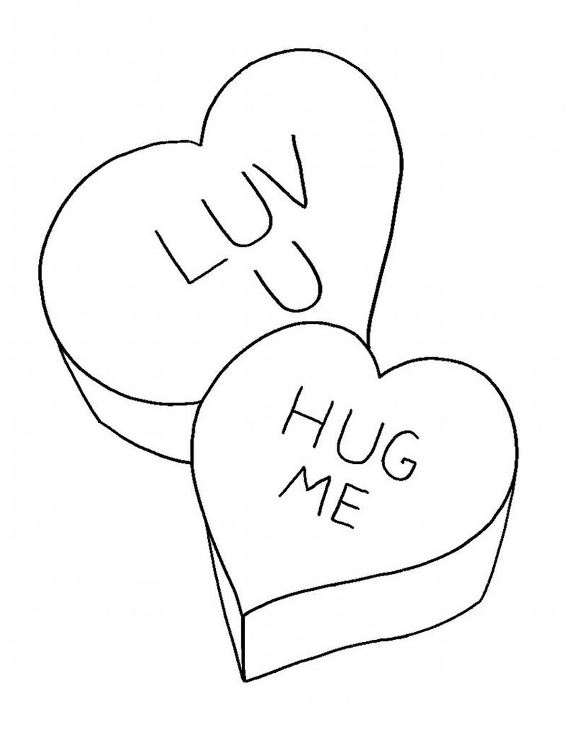 valentines day coloring pages cards Printable