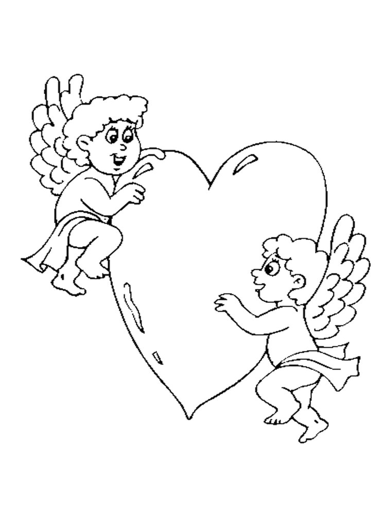 valentines day coloring pages cupid