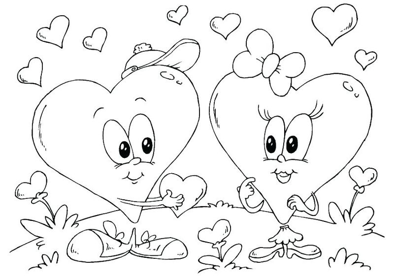 valentines day coloring pages for kids Printable