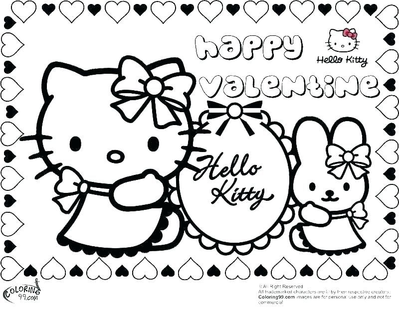 valentines day coloring pages online Printable
