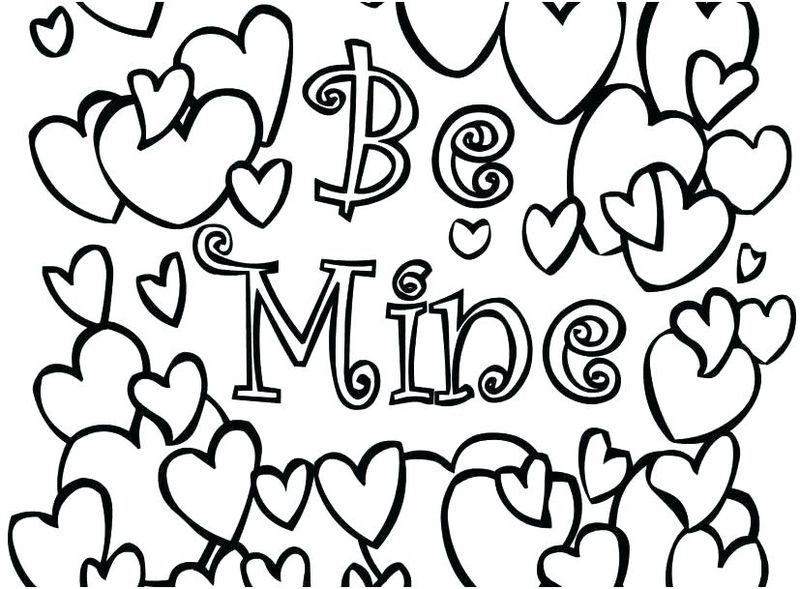 valentines day coloring pages printables