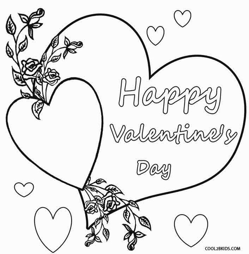 valentines day kids coloring pages Printable