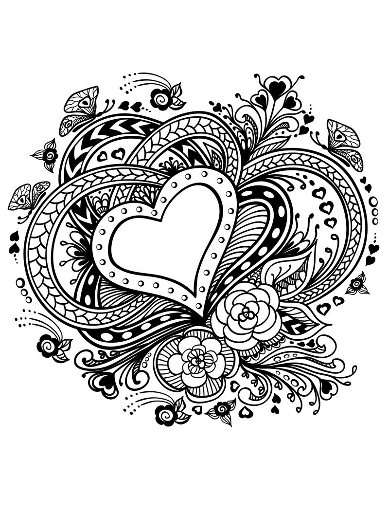 valentines free coloring pages Printable