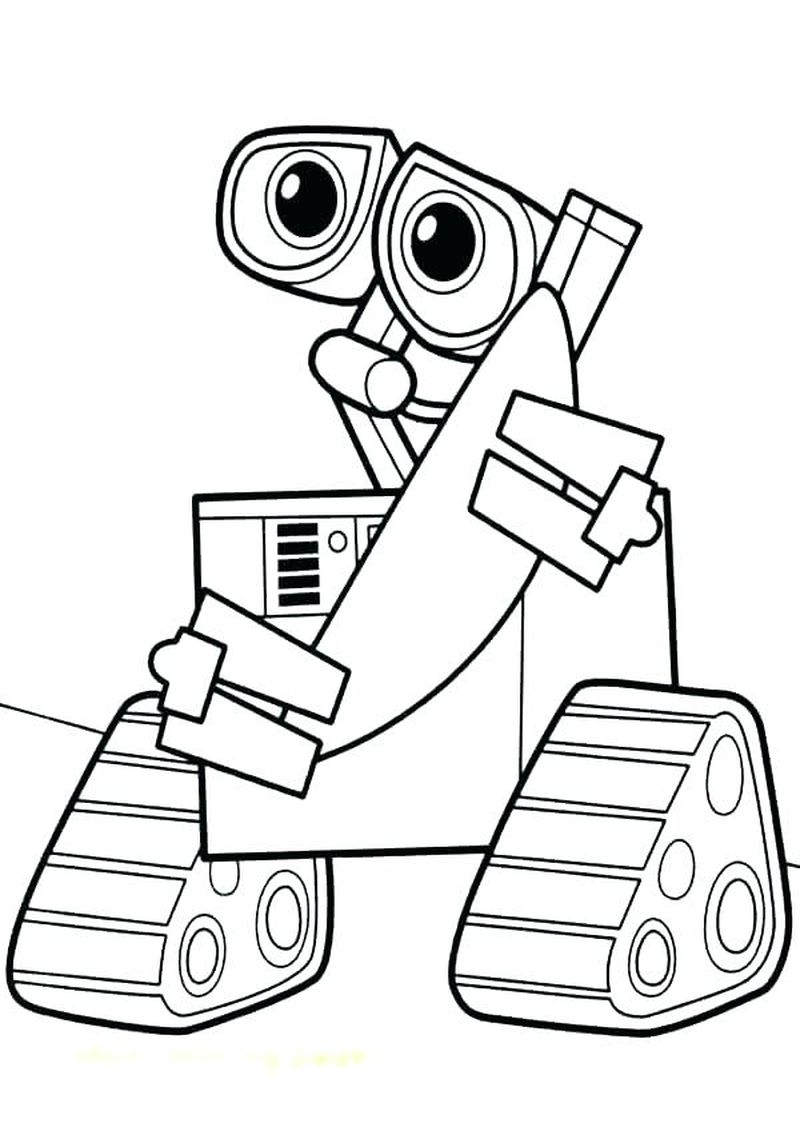 wall e coloring pages pdf