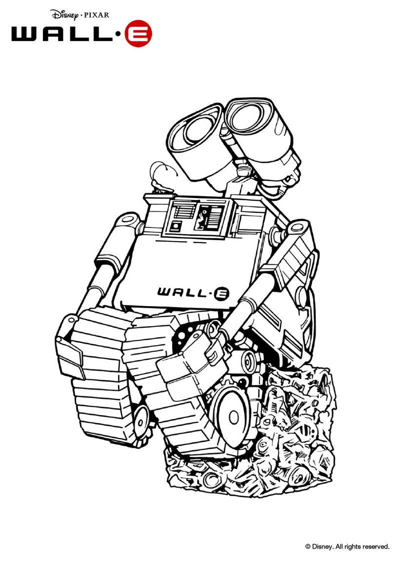 wall e coloring pages printable