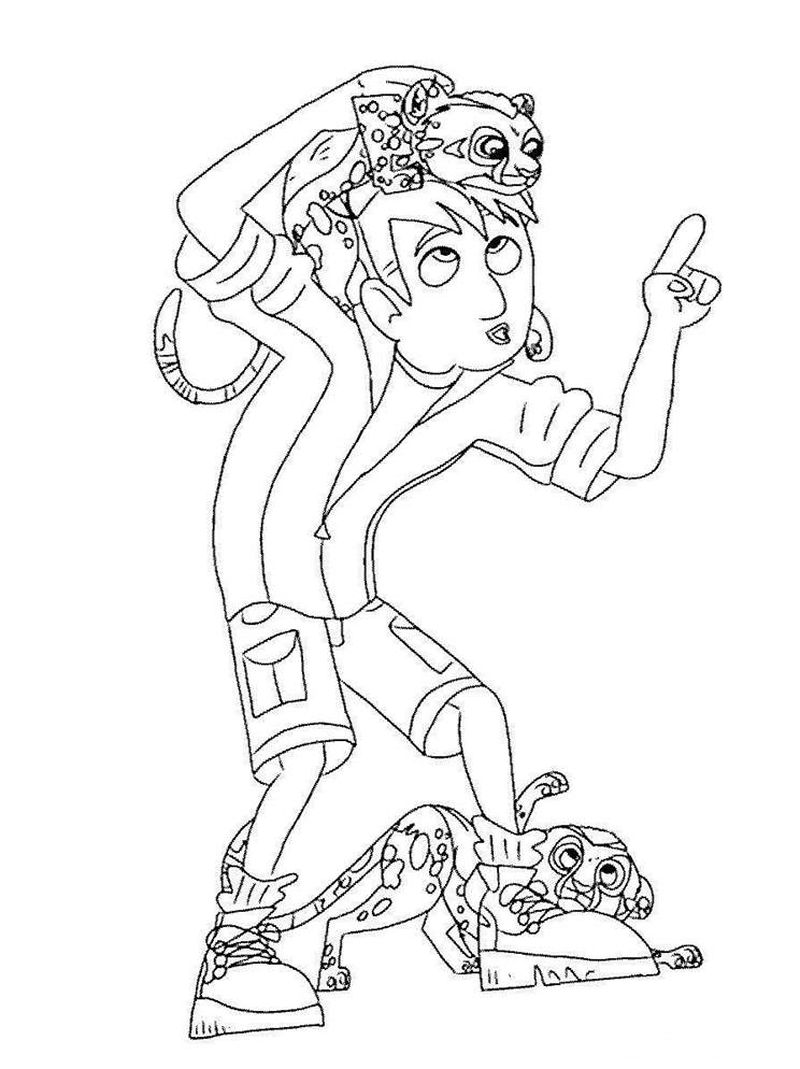 wild kratts animal coloring pages