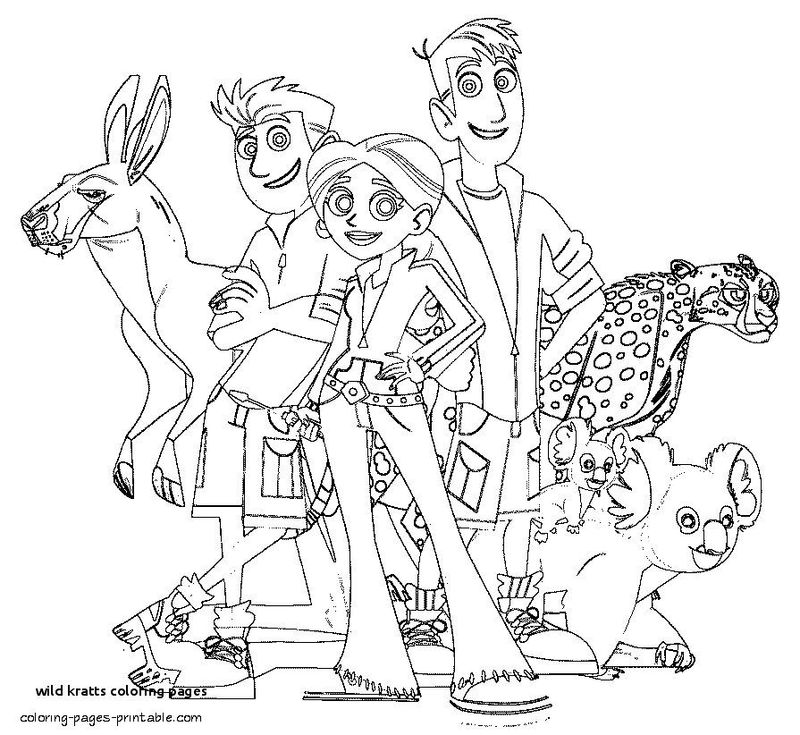 wild kratts christmas coloring pages