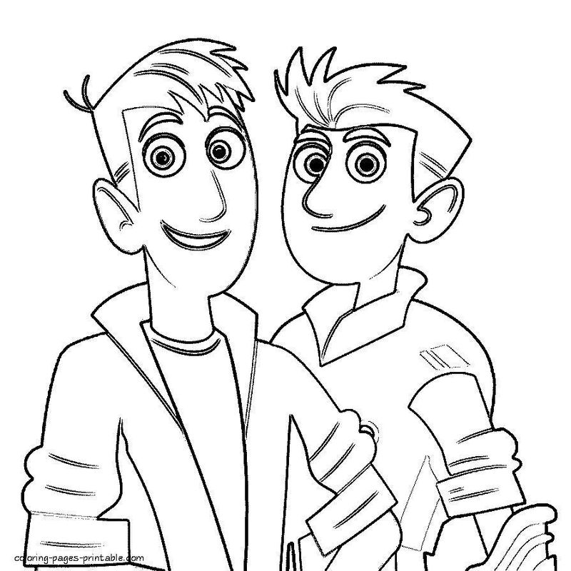 wild kratts coloring in pages