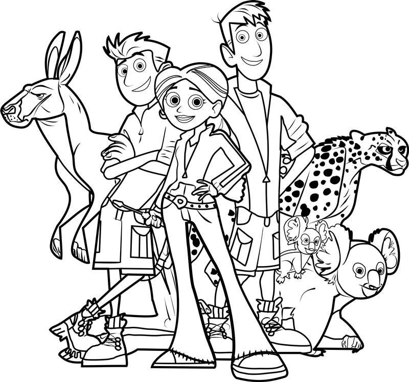 wild kratts coloring page pdf