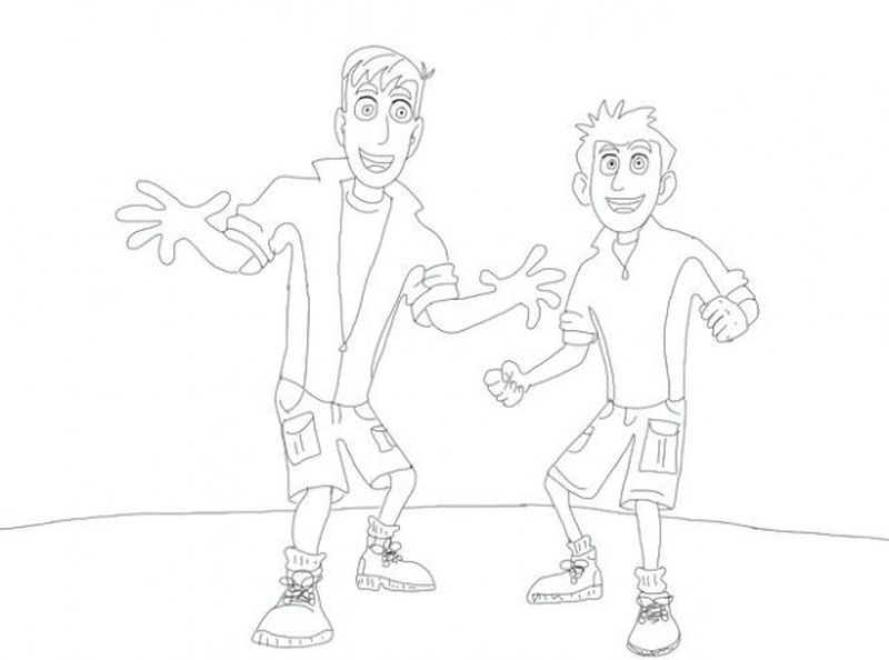 wild kratts coloring pages and activities