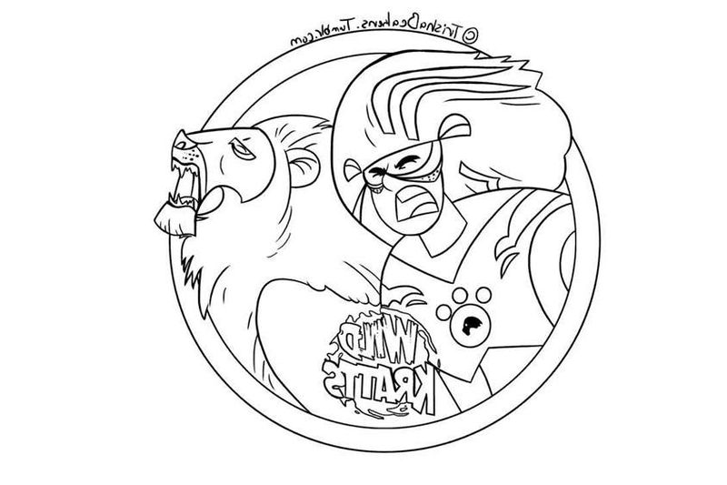 wild kratts coloring pages aviva