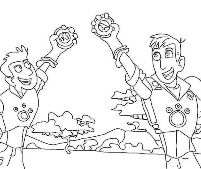 wild kratts coloring pages pbs