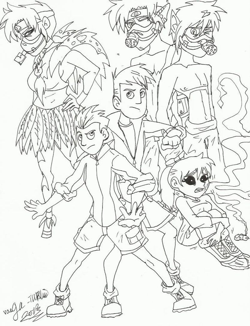 wild kratts colouring pages free