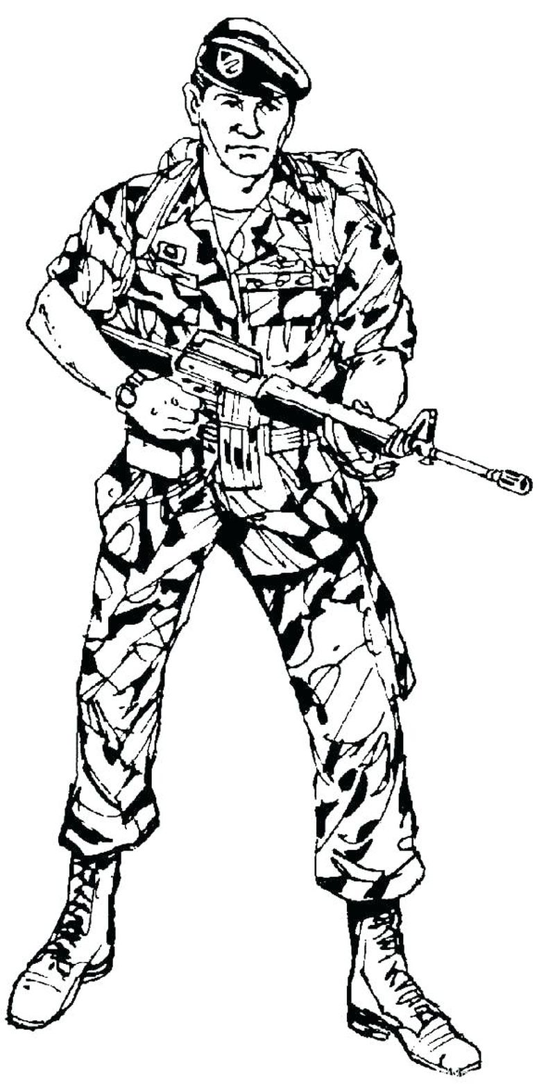world war 2 army man coloring pages Printable