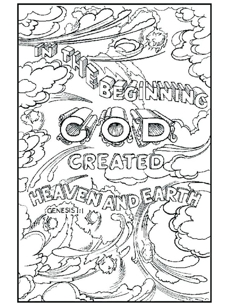 7 Days Of Creation Coloring Pages Free Download