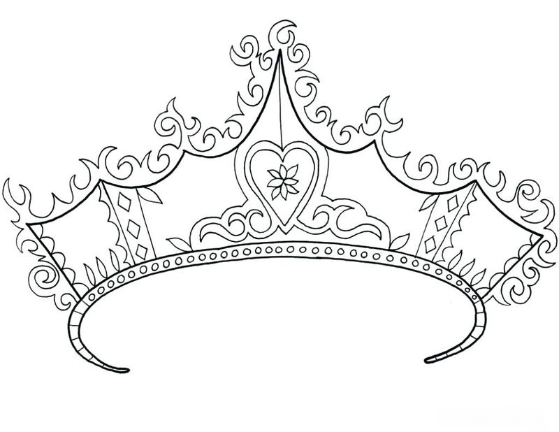 A Crown Coloring Page Printable