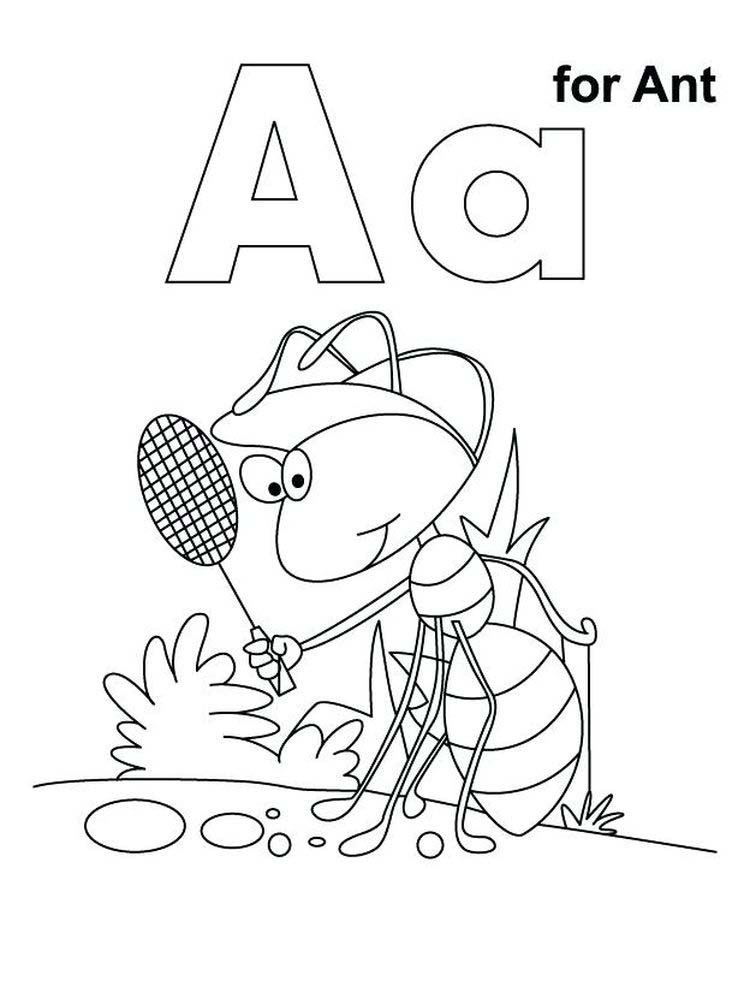 Ant Coloring Pages print