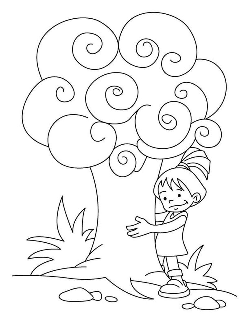 Arbor Day Coloring Pages Disney Printable