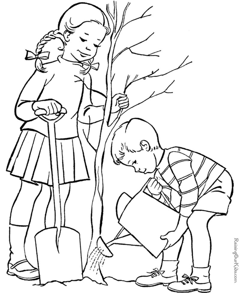 Arbor Day Coloring Pages For Adults Printable