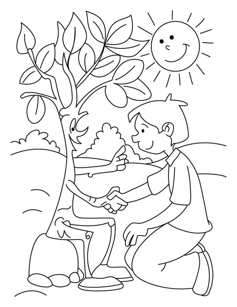 Arbor Day Coloring Pages download