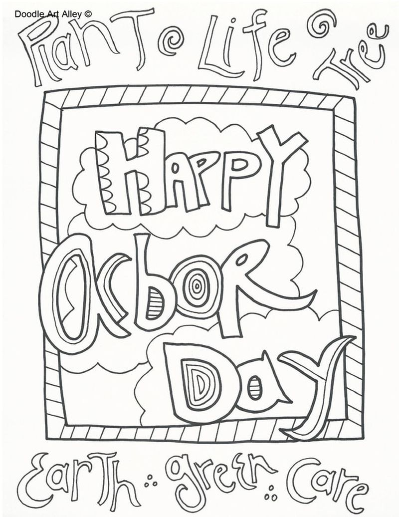 Arbor Day Coloring Pages