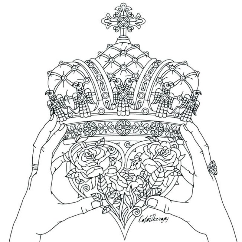 Coloring Page Crown Of Thorns Printable