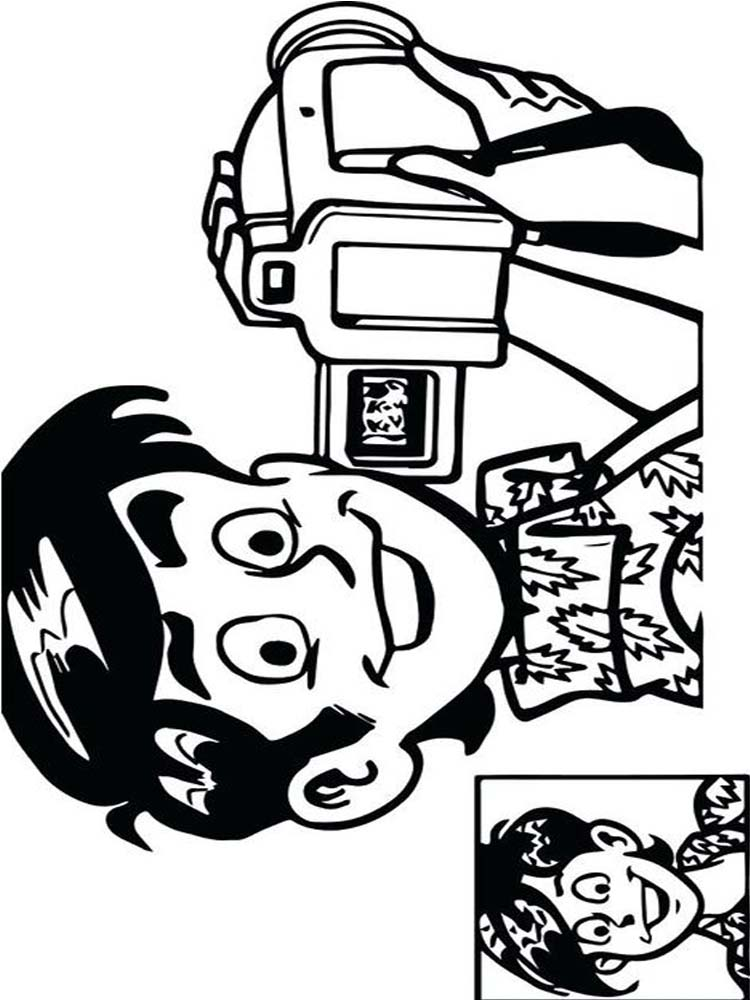 Coloring Page Of A Camera Printable