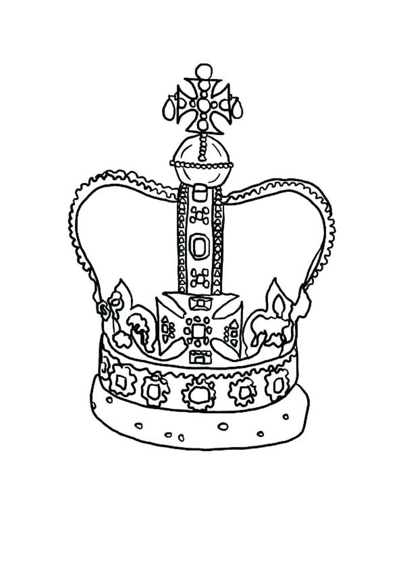 Coloring Page Of A Queens Crown Printable