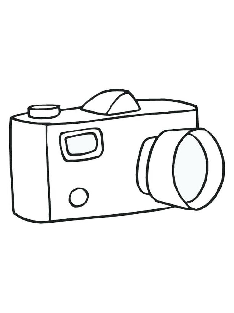 Coloring Page Of Camera Printable