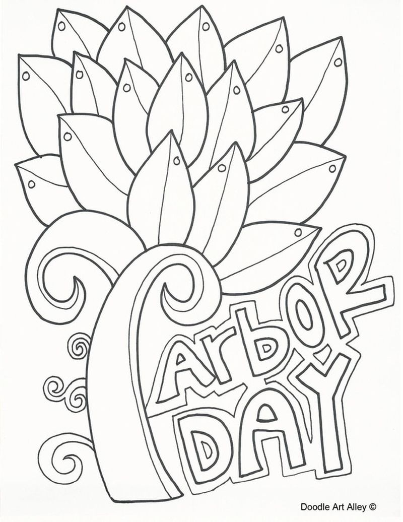 Coloring Pages Arbor Day Printable