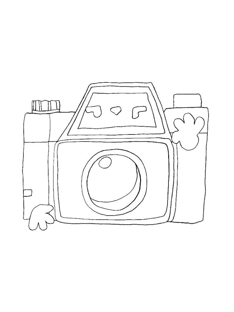 Coloring Pages Of A Camera Printable