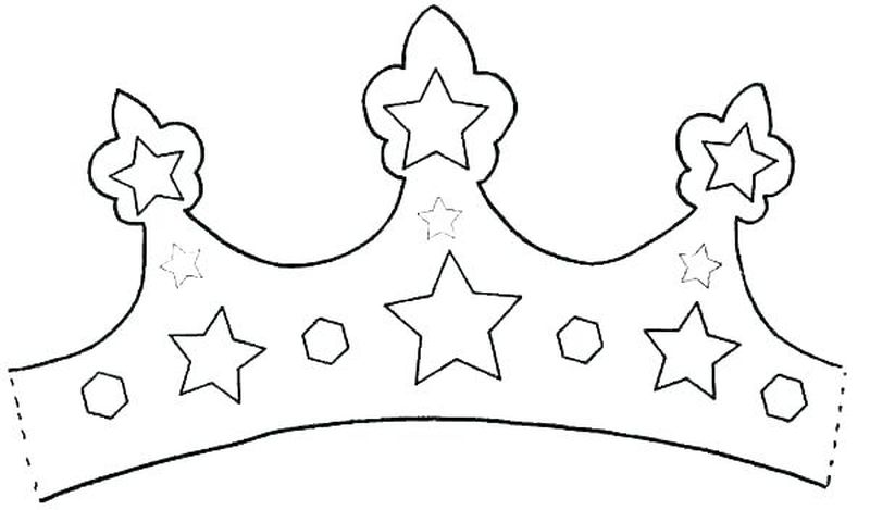 Coloring Pages Of A Crown Printable