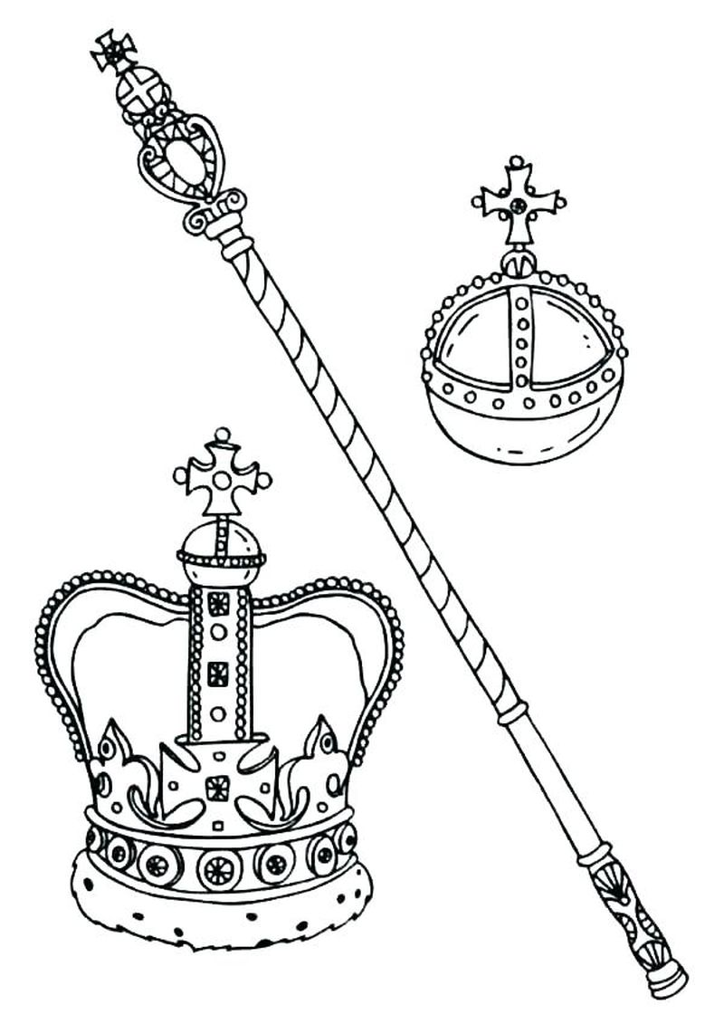 Coloring Pages Of A Crown To Print Free