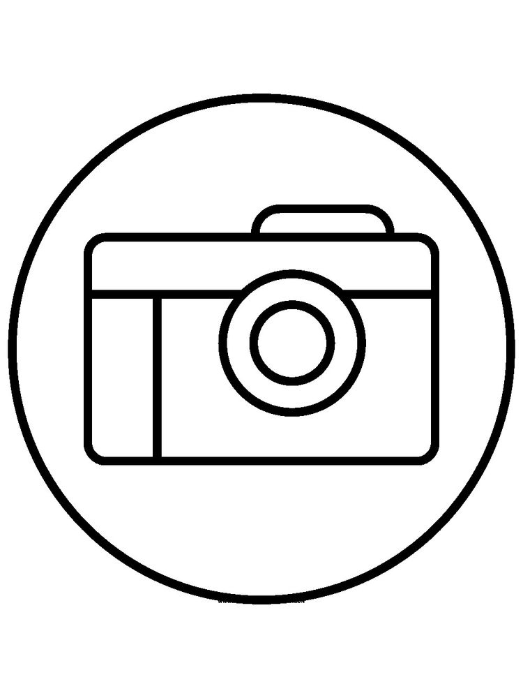 Coloring Pages Of Camera Printable