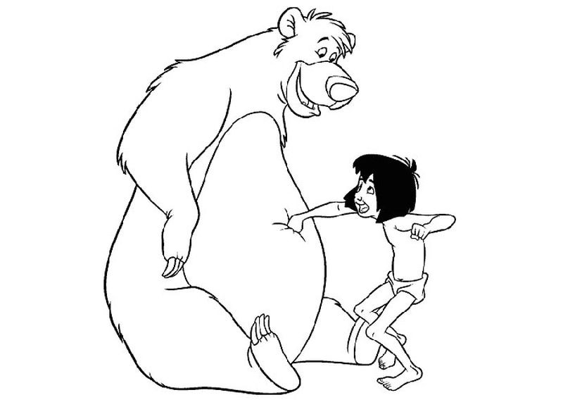 Coloring Pages Of Jungle Book Printable
