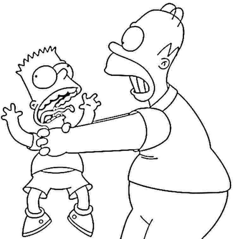 Coloring Pages Of The Simpsons Printable