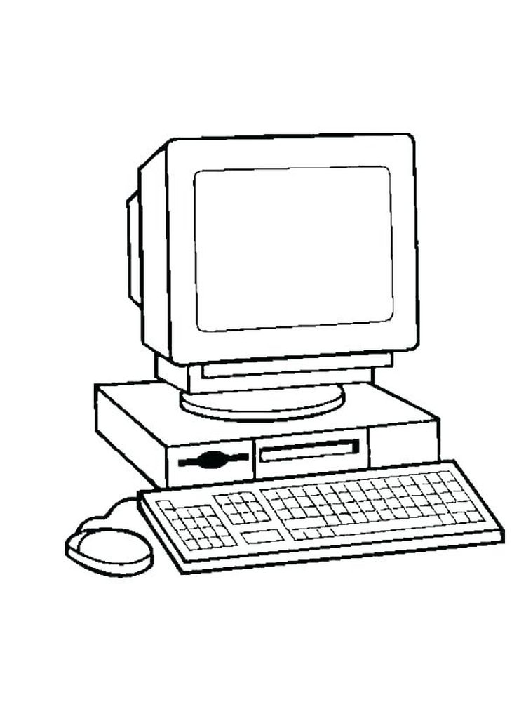 Computer Coloring Page print