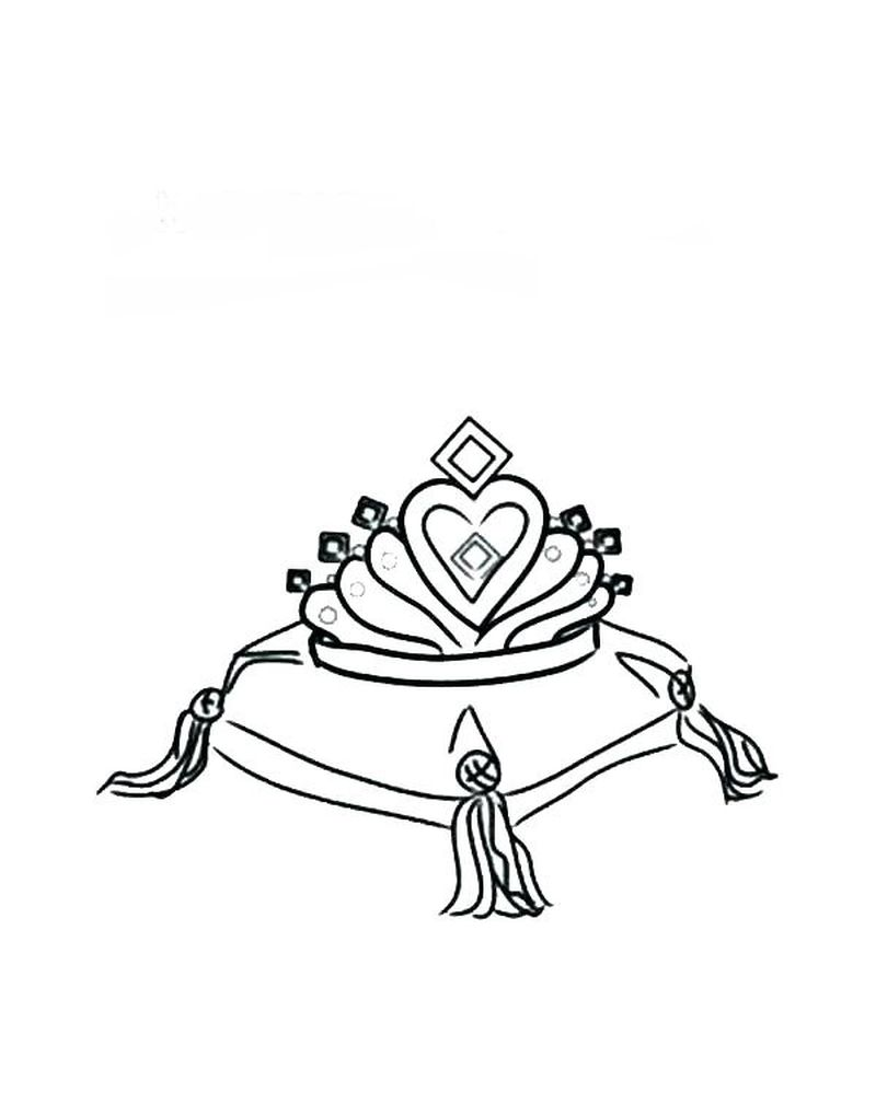 Crown Coloring Page For Adults Printable