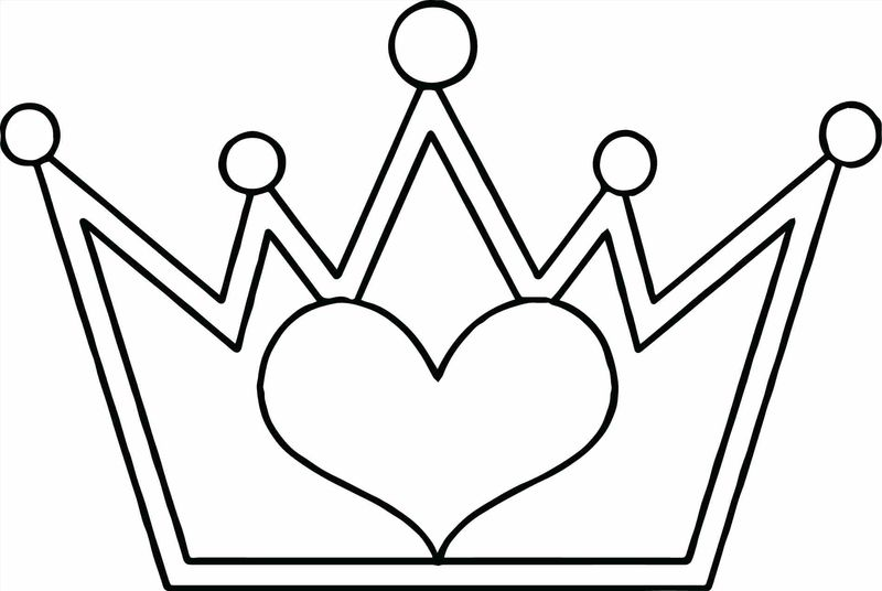 Crown Coloring Page For Toddlers Printable