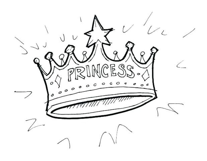 Crown Coloring Pages For Adults Printable