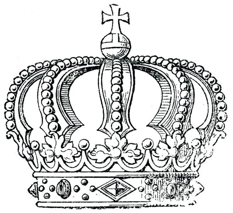 Crown Colouring In Pages Printable