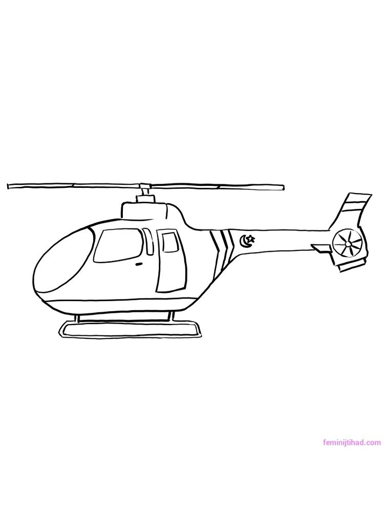 Download Helicopter Coloring Pages Free Printable