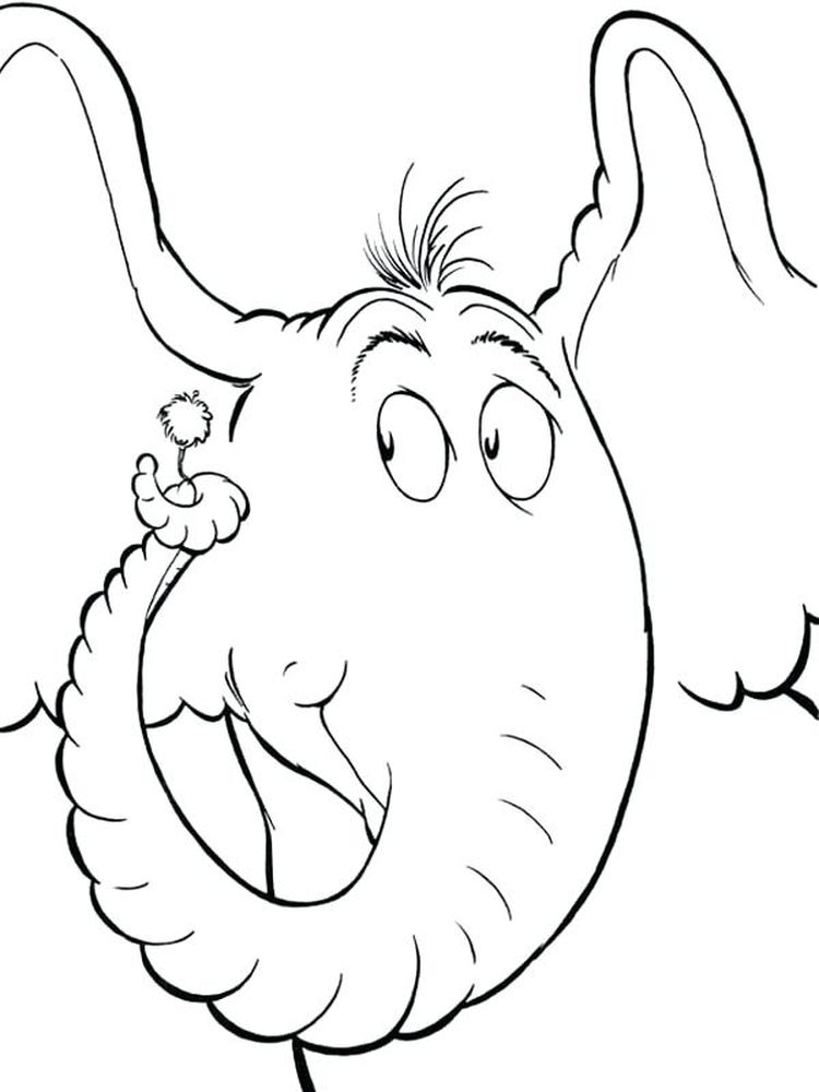 Dr Seuss Horton Hears A Who Coloring Pages Printable