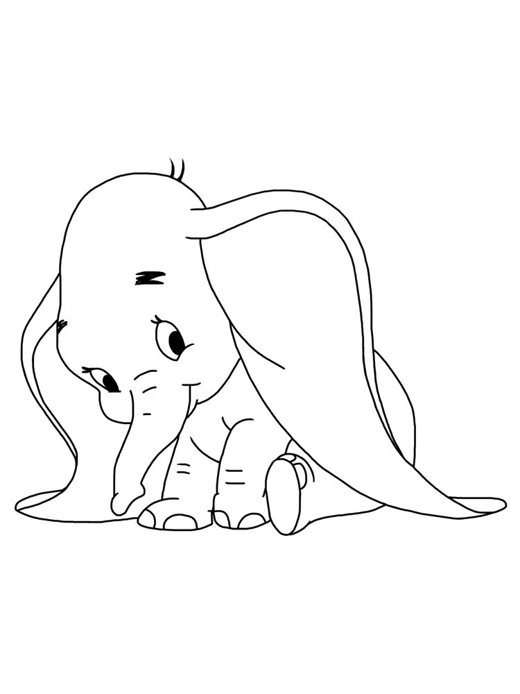 Dumbo Elephant Printable Coloring Pages Download
