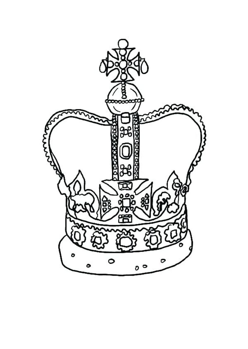 Fairy Crown Coloring Pages Printable