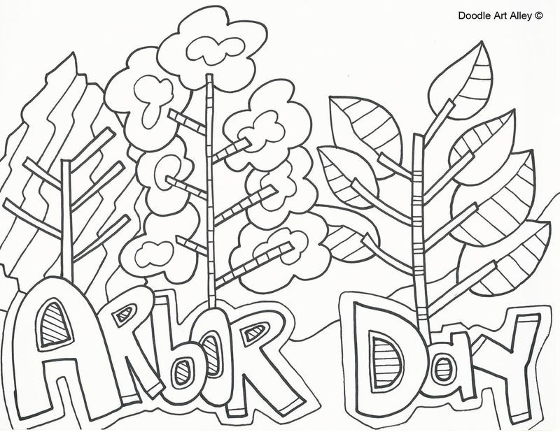 Free Arbor Day Coloring Pages Printable